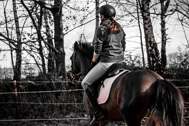 dívka v sedle koně