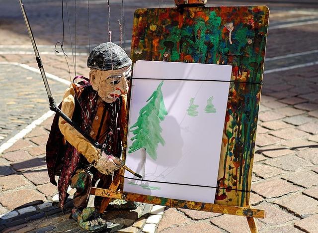 loutka malíře